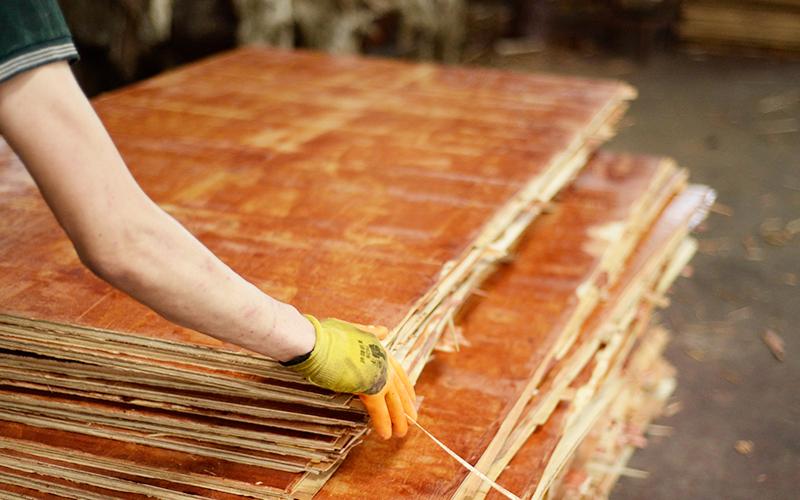 看建筑木模板