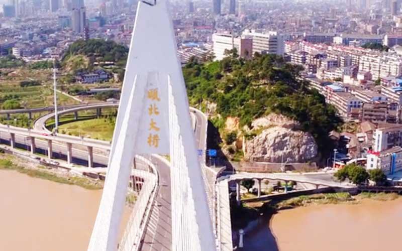 中交一公局第二工程有限公司承建的瓯北大桥