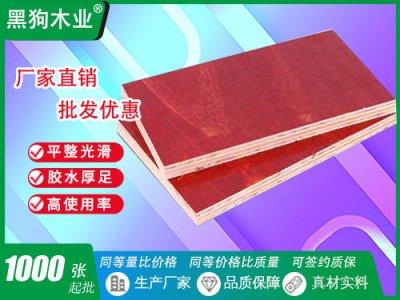 广东建筑小板红模板
